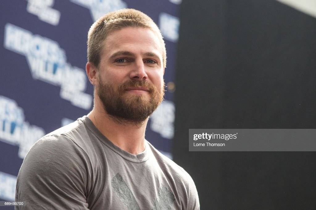 Stephen Amell is interviewed on day two of Heroes and Villians Convention at Olympia London on May 28, 2017 in London, England.