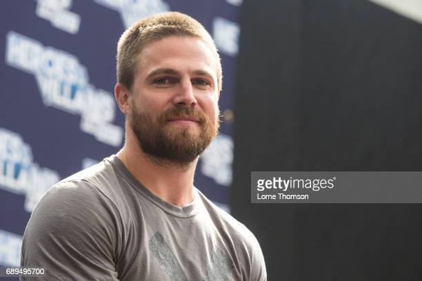 Stephen Amell is interviewed on day two of Heroes and Villians Convention at Olympia London on May 28 2017 in London England