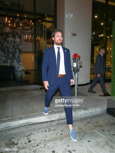 Stephen Amell is seen on August 04 2019 in Los Angeles California