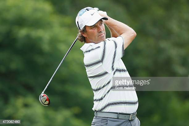 Stephen Ames hits a shot during the second round of the Insperity Championship at The Woodlands CC on May 2 2015 in The Woodlands Texas