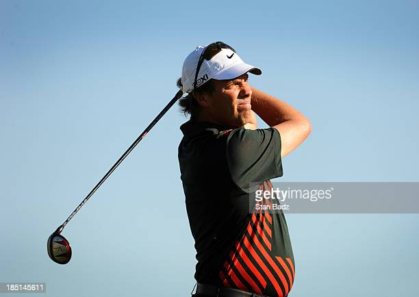 Stephen Ames of Canada hits a drive on the first hole during the first round of the Shriners Hospitals for Children Open at TPC Summerlin on October...
