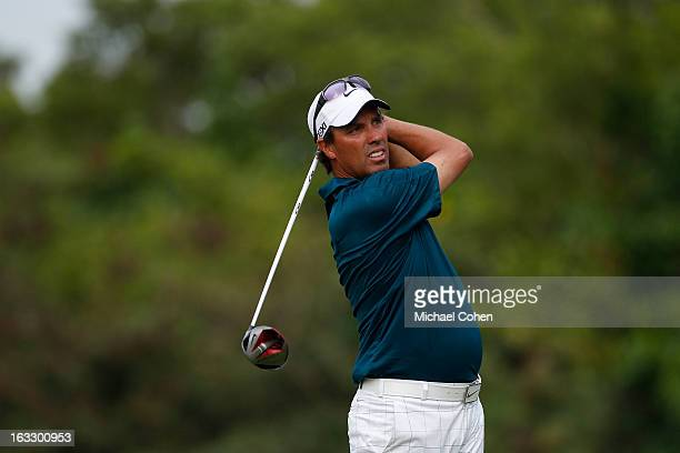 Stephen Ames of Canada hits his drive on the 18th hole during the first round of the Puerto Rico Open presented by seepuertoricocom held at Trump...