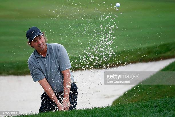 Stephen Ames of Canada plays a shot on the third hole during the second round of The Honda Classic at PGA National Resort and Spa on February 28 2014...