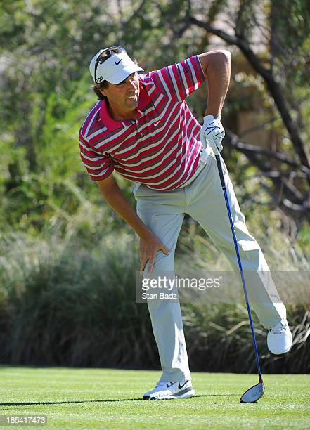 Stephen Ames of Canada watches his drive on the third hole during the third round of the Shriners Hospitals for Children Open at TPC Summerlin on...