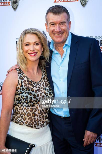 Stephen and Julie Quartermain arrives ahead of The Book of Mormon opening night at Princess Theatre on February 4 2017 in Melbourne Australia