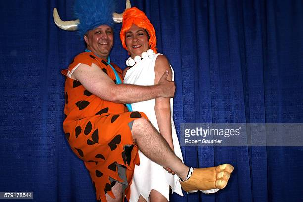 SAN DIEGO CA FRIDAY JULY 22 2016 Stephen and Patricia Furbacher as Fred and Wilma Flintstone at Comic Con