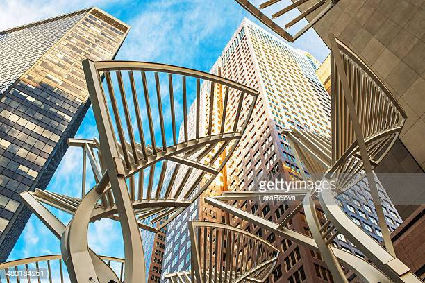 stephen avenue - calgary stock pictures, royalty-free photos & images