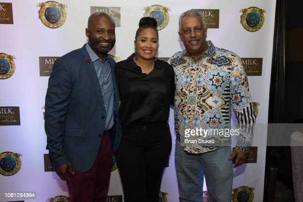 Stephen Baldi Monique Rose and Nizam Ali attend opening of Catch 22 on January 11 2019 in Washington DC