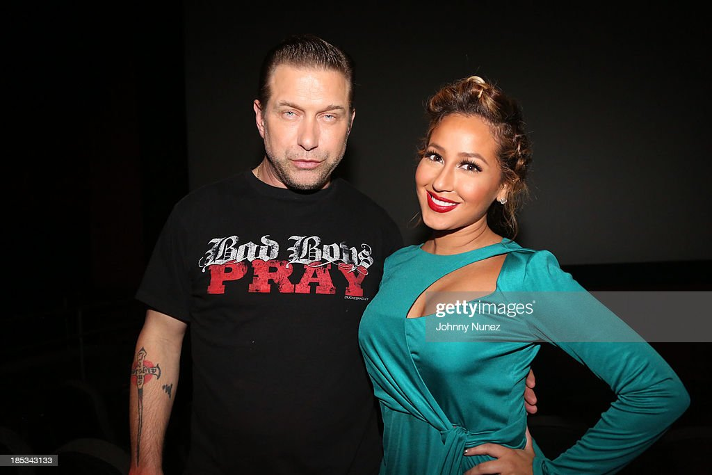 Stephen Baldwin and Adrienne Bailon attend the 'I'm In Love With a Church Girl' screening at the Regal E-Walk Stadium 13 on October 18, 2013 in New York City.