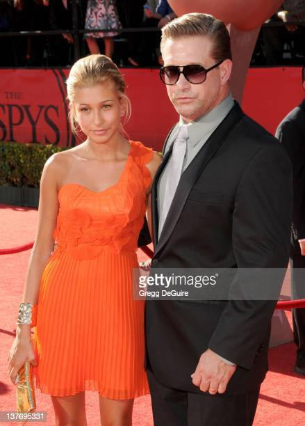 Stephen Baldwin and daughter Hailey arrive at the 2010 ESPY Awards at the Nokia Theatre LA Live on July 14 2010 in Los Angeles California