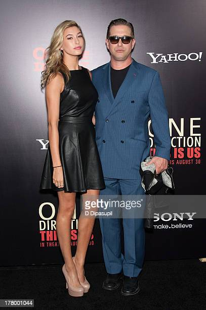 Stephen Baldwin and daughter Hailey Rhode Baldwin attend the New York premiere of 'One Direction This Is Us' at the Ziegfeld Theater on August 26...
