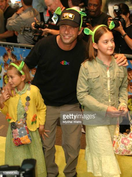 Stephen Baldwin and daughters during Dreamworks Pictures and Dreamworks Productions Present The Premiere of Shrek 2 at Beekman Theater in New York...