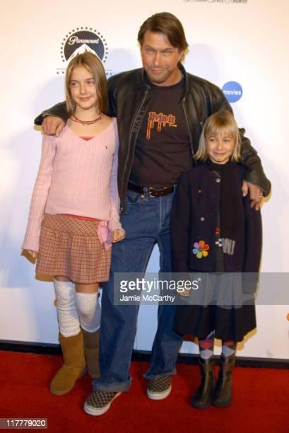 Stephen Baldwin and daughters during 'The SpongeBob SquarePants Movie' New York City Screening to Benefit the Princess Grace Awards at Loews Cineplex...