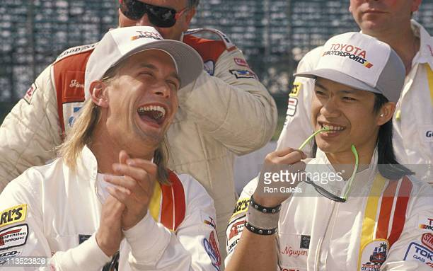 Stephen Baldwin and Dustin Nguyen during 14th Annual ProCelebrity Press Race at Los Angeles in Los Angeles California United States