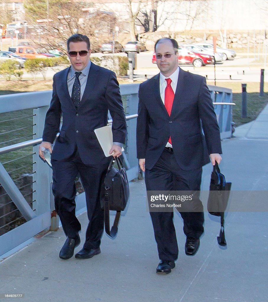 Stephen Baldwin (L) and his attorney Russell Yankwitt (R) arrive at Rockland County Courthouse on March 29, 2013 in New City, New York. Baldwin, a contestant on 'All-Star Celebrity Apprentice', pleaded guilty to a charge of failing to file income tax returns from 2008-2010 and faces up to four years in prison if convicted.