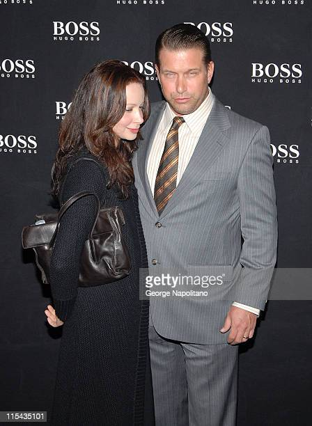 Stephen Baldwin and Kennya Deodato arrive at the BOSS Black Spring 2008 Fashion Show at the Cunard Building in New York City on October17 2007