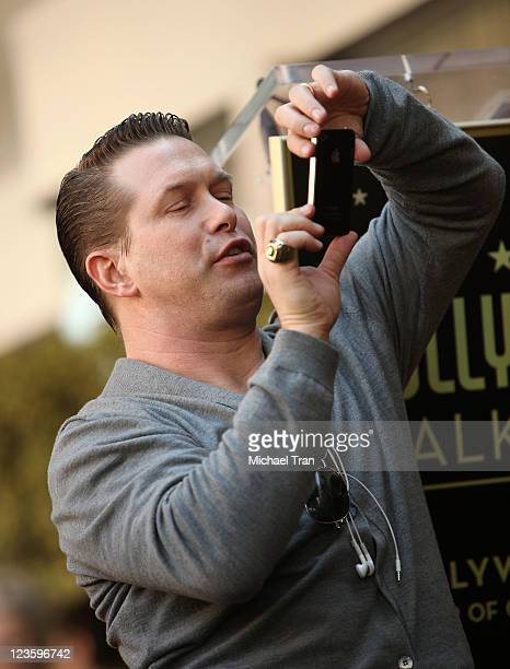Stephen Baldwin attends the ceremony honoring his brother actor Alec Baldwin with a Star on The Hollywood Walk of Fame held on February 14 2011 in...
