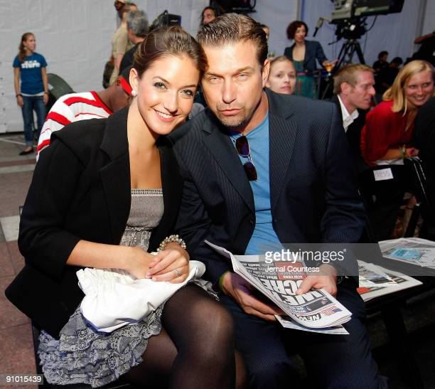 Stephen Baldwin with daughter Alaia Baldwin attend the Age Of Stupid Eco Premiere/Live Climate Change Panel at World Financial Center Winter Garden...