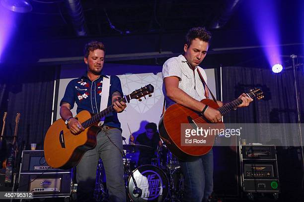 Stephen Barker Liles and Eric Gunderson of Love and Theft perform at Pandora presents Love and Theft at StubHub's Next Stage Series at Cannery...