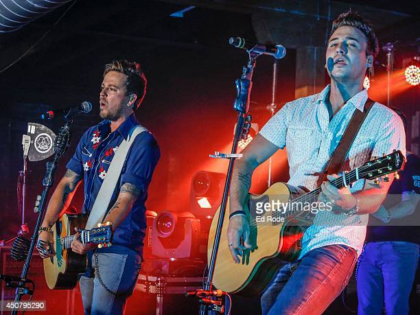 Stephen Barker Liles and Eric Gunderson of Love and Theft performs at Pandora presents Love and Theft at StubHub's Next Stage Series at Cannery...