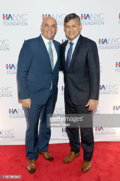 Stephen Batta and Vijay Dandapani attends The Red Carpet Hospitality Gala Hosted by the Hotel Association Of New York City Foundation at Grand Hyatt...