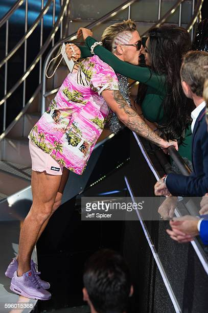 Stephen Bear and Chloe Khan at Celebrity Big Brother at Elstree Studios on August 26 2016 in Borehamwood England