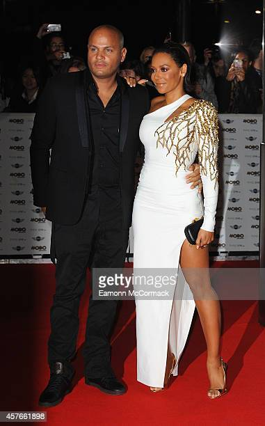 Stephen Belafonte and Mel B attend the MOBO Awards at SSE Arena on October 22 2014 in London England