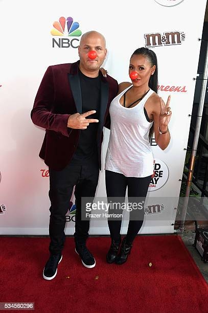 Stephen Belafonte and Mel B attend The Red Nose Day Special on NBC at Alfred Hitchcock Theater at Universal Studios on May 26 2016 in Universal City...