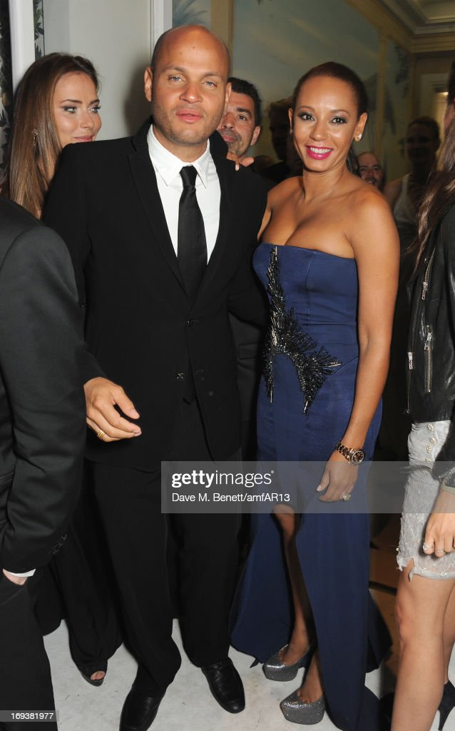Stephen Belafonte (L) and Melanie Brown aka Mel B attend 'Moncler, The After Party To Benefit amfAR' during The 66th Annual Cannes Film Festival at Hotel du Cap-Eden-Roc on May 23, 2013 in Cap d'Antibes, France.