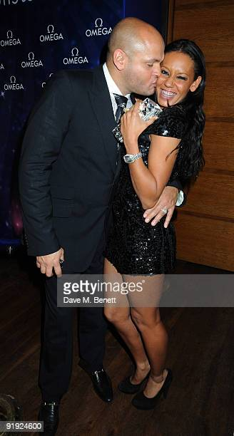 Stephen Belafonte and Melanie Brown attend the OMEGA constellation 2009 launch party at Almada on October 15 2009 in London England