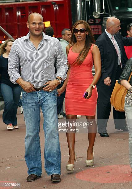Stephen Belafonte and wife Mel B attend the 2nd annual 'Dance Your A** Off' Tour in Times Square on June 14 2010 in New York City