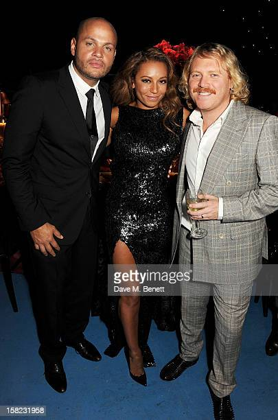 Stephen Belafonte, Melanie Brown and Leigh Francis aka Keith Lemon attend an after party celebrating the Gala Press Night performance of 'Viva...