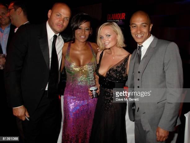Stephen Belafonte, Melanie Brown, Emma Bunton, Jade Jones attend the Glamour Woman Of The Year Awards, at Berkeley Square on June 3, 2008 in London,...
