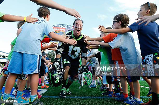Stephen Berger of the New York Lizards is introduced before a game against the Charlotte Hounds during their Major League Lacrosse game at Shuart...