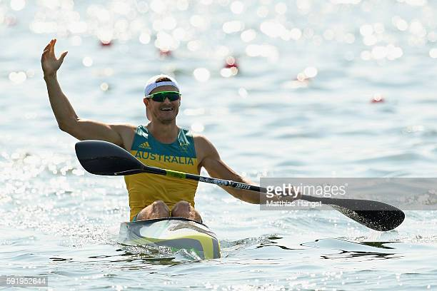 Stephen Bird of Australia competes in the Men's Kayak Single 200m on Day 14 of the Rio 2016 Olympic Games at the Lagoa Stadium on August 19 2016 in...