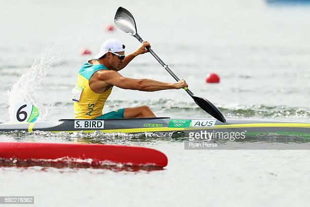 Stephen Bird of Australia competes in the Men's Kayak Single 200m Finals on Day 15 of the Rio 2016 Olympic Games at the Lagoa Stadium on August 20...