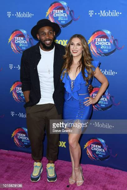 Stephen Boss and Allison Holker attend FOX's Teen Choice Awards at The Forum on August 12 2018 in Inglewood California