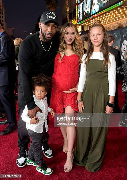 Stephen Boss Maddox Laurel Boss Allison Holker and Weslie Fowler attend the World Premiere of Disney's Maleficent Mistress of Evil at the El Capitan...