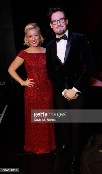 Stephen Bowman and Natalie Rushdie attend her Christmas Concert at The Other Palace on December 2 2017 in London England