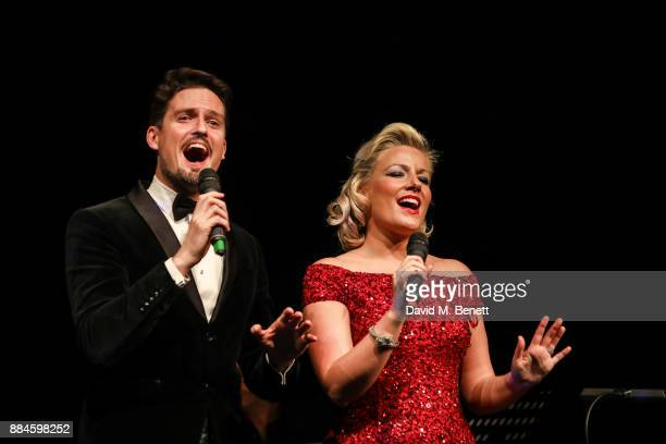 Stephen Bowman and Natalie Rushdie perform at her Christmas Concert at The Other Palace on December 2 2017 in London England