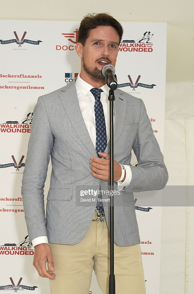 Stephen Bowman attends the Flannels for Heroes charity cricket match and garden party hosted by menswear brand Dockers at Burton's Court on June 19, 2015 in London, England.
