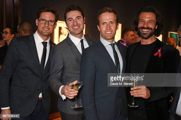 Stephen Bowman Ollie Baines and Humphrey Berney and Christian Vit attend Terrence Higgins Trust The Auction in support of people living with HIV at...