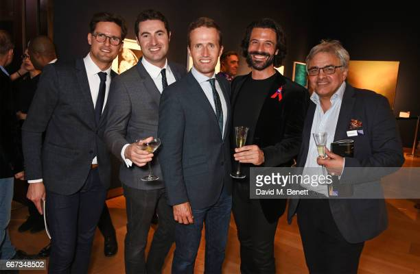 Stephen Bowman Ollie Baines and Humphrey Berney Christian Vit and Baldassare La Rizza attend Terrence Higgins Trust The Auction in support of people...