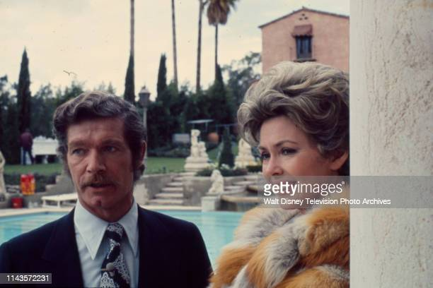 Stephen Boyd Barbara Rush appearing in the Walt Disney Television via Getty Images tv movie 'Of Men and Women'
