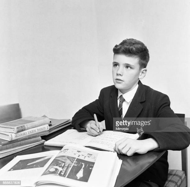 Stephen Burton of North Hatch Technical School seen here doing his Chemistry homework, 22nd October 1963 .