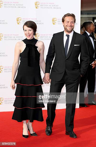 Stephen Campbell Moore and Claire Foy arrive for the House Of Fraser British Academy Television Awards 2016 at the Royal Festival Hall on May 8 2016...