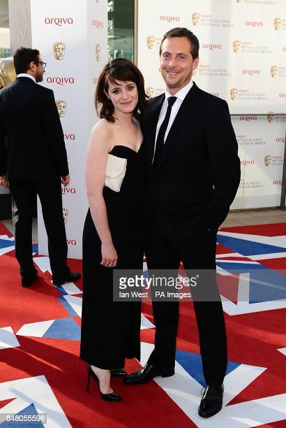 Stephen Campbell Moore and Claire Foy arriving for the 2012 Arqiva British Academy Television Awards at the Royal Festival Hall London