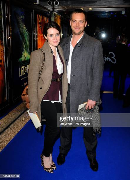 Stephen Campbell Moore and Claire Foy arriving for the premiere of Life of Pi at the Empire Leicester Square London