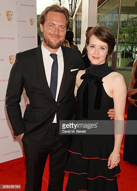 Stephen Campbell Moore and Claire Foy attend the House Of Fraser British Academy Television Awards 2016 at the Royal Festival Hall on May 8 2016 in...