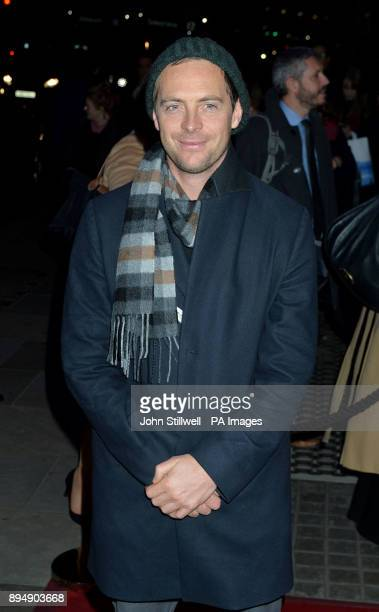 Stephen Campbell Moore arriving to attend the press night for the musical The Grinning Man at the Trafalgar Studios in central London